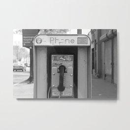 Payphone Metal Print