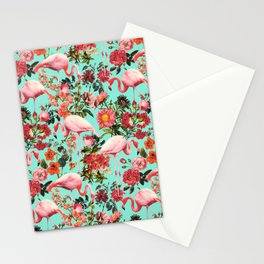 Floral and Flemingo IV Pattern Stationery Cards