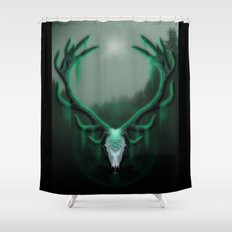 Wild Horns Shower Curtain