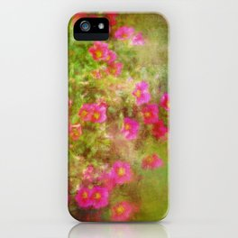 Painted Flowers  iPhone Case