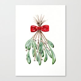 Mistletoe Print Canvas Print