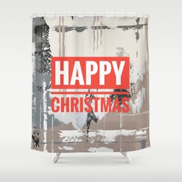 Snowfall - Happy Christmas Shower Curtain