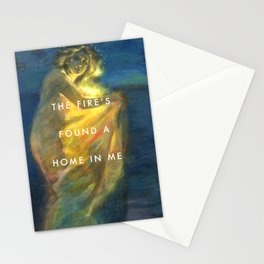 Woman Clothed with the Yellow Flicker Beat Stationery Cards