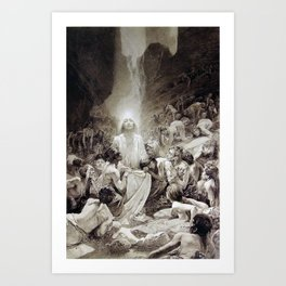 Alphonse Mucha - Illustration from Le Pater / The Lord's Prayer (1899) Art Print