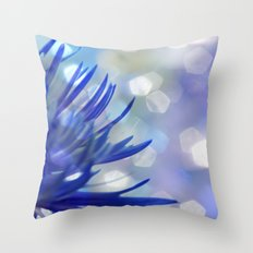 Happiness in Blue Throw Pillow