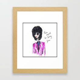 Zombie Joan Jett Framed Art Print