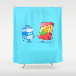 Milk and Corn (Best friends. Character set.) Shower Curtain