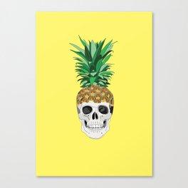 Pineskull Yellow Canvas Print