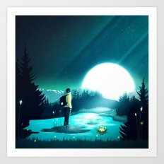 Lost in the Moment Art Print