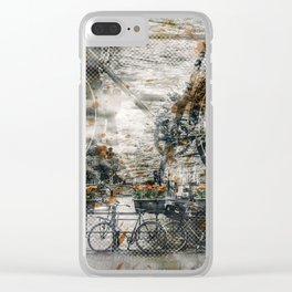 City-Art AMSTERDAM Bicycles Clear iPhone Case