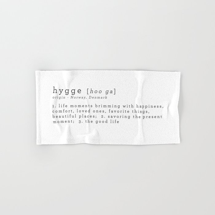 THE MEANING OF HYGGE Hand & Bath Towel