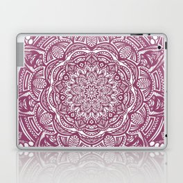 Wine Maroon Ethnic Detailed Textured Mandala Laptop & iPad Skin