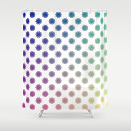 Ombre cyber atomic flower science print Shower Curtain