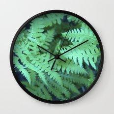 Midnight Ferns Wall Clock