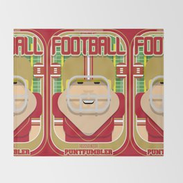 American Football Red and Gold - Enzone Puntfumbler - Sven version Throw Blanket