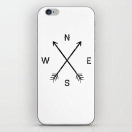 Compass (White) iPhone Skin