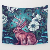 jackalope Wall Tapestries featuring Jack by Angela Rizza