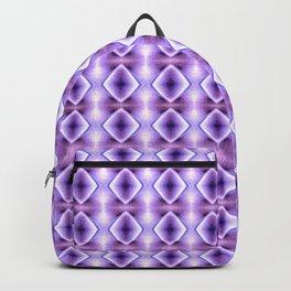 Blue Purple Geometric Diamond Pattern Design Backpack