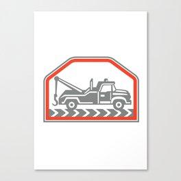 Tow Wrecker Truck Side Retro Canvas Print