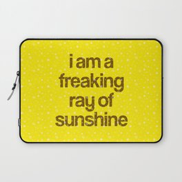 i am a freaking ray of sunshine (Sparkle Pattern) Laptop Sleeve