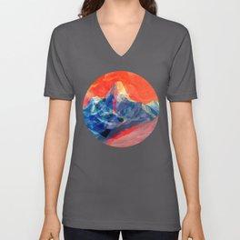 Abstract Mt. Everest Unisex V-Neck