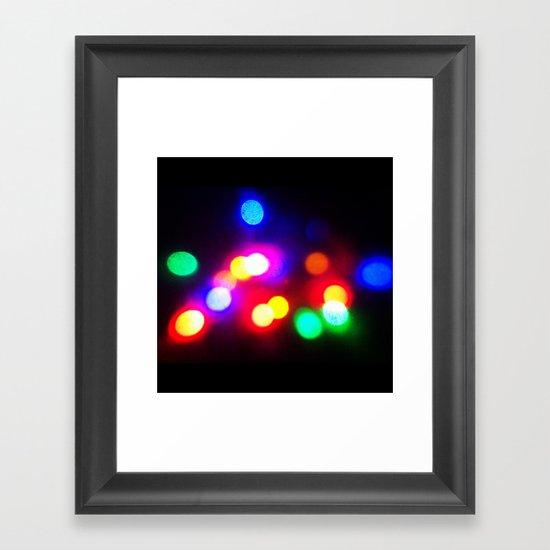 Colourful lights Framed Art Print