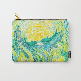 Dolphins - original impressionistic oil painting Carry-All Pouch