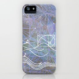 musical space geometry iPhone Case