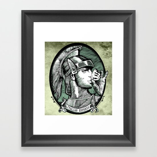 italian express Framed Art Print