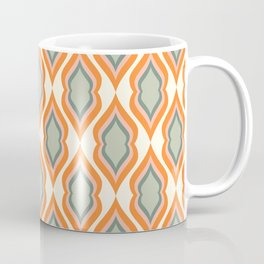 Mid Century Mod Retro Modern Shapes Orange Pink Green Coffee Mug