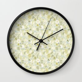 Daisies and Dragonflies (small scale) Wall Clock