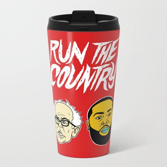 Run The Country Metal Travel Mug