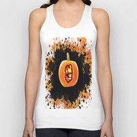 groot Tank Tops featuring Groot pumpkin  by grapeloverarts