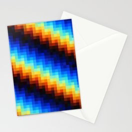 Color pixel pattern glitch Stationery Cards
