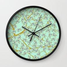 mint flowers Wall Clock