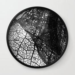 Negative Leaf Wall Clock