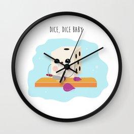 Dice, Dice baby Wall Clock