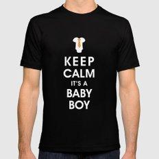 Keep Calm It's A Baby Boy Black MEDIUM Mens Fitted Tee