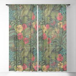 Tropical garden Sheer Curtain