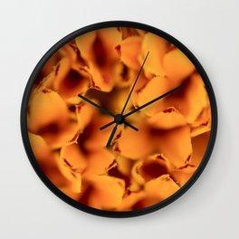 Pattern of orange flowers Wall Clock