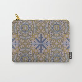 Gender Equality Tiled - Blue Ochre Carry-All Pouch