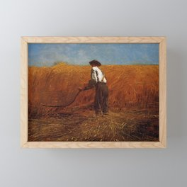 The Veteran In A New Field 1865 By WinslowHomer   Reproduction Framed Mini Art Print