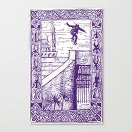 Ali Boulala, skateboard extraordinaire! Canvas Print