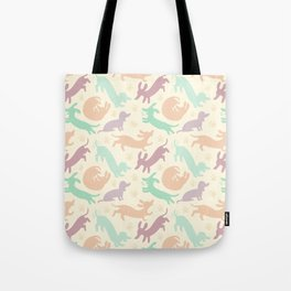 Pastel Dachshunds Tote Bag