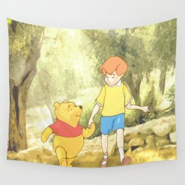 Christopher and Pooh Bear Wall Tapestry