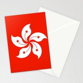 Flag of hong kong Stationery Cards