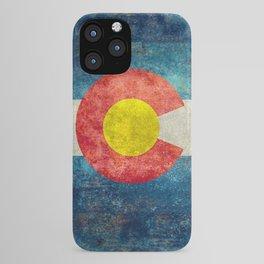 Colorado State flag, Vintage retro style iPhone Case
