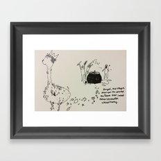 Chickenish Llamas Framed Art Print