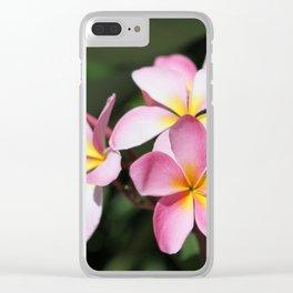 Hawaiian Flower Clear iPhone Case