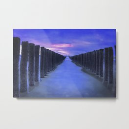 The North Sea beach in the Netherlands, Zeeland Metal Print